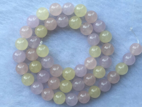 "Natural 8mm Smooth  Chalcedony Agate  beautiful Colorful Loose Gems 15/"" AAA."