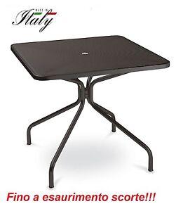 Tavolo Esterno Cambi 801 Misura 80x80 Cm Colore Ferro Antico Emu Piano Forato Ebay