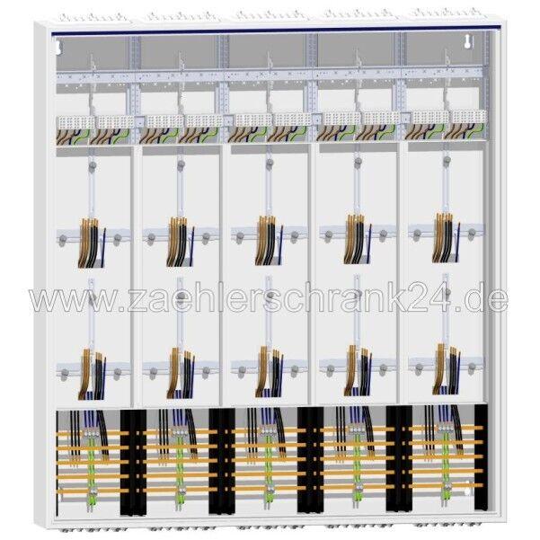 Hager Zählerschrank  10 Zähler ZB55S 1400 mm + SLS
