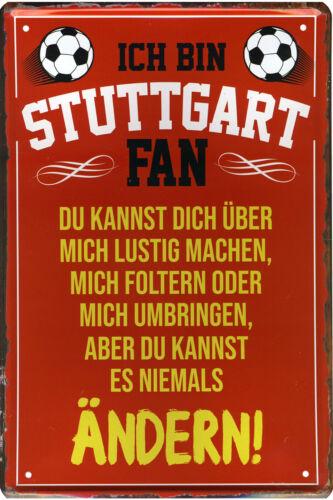 Blechschild Schilder Wandschild 20x30cm Fussball Geschenke Hobby Souvenier Fan