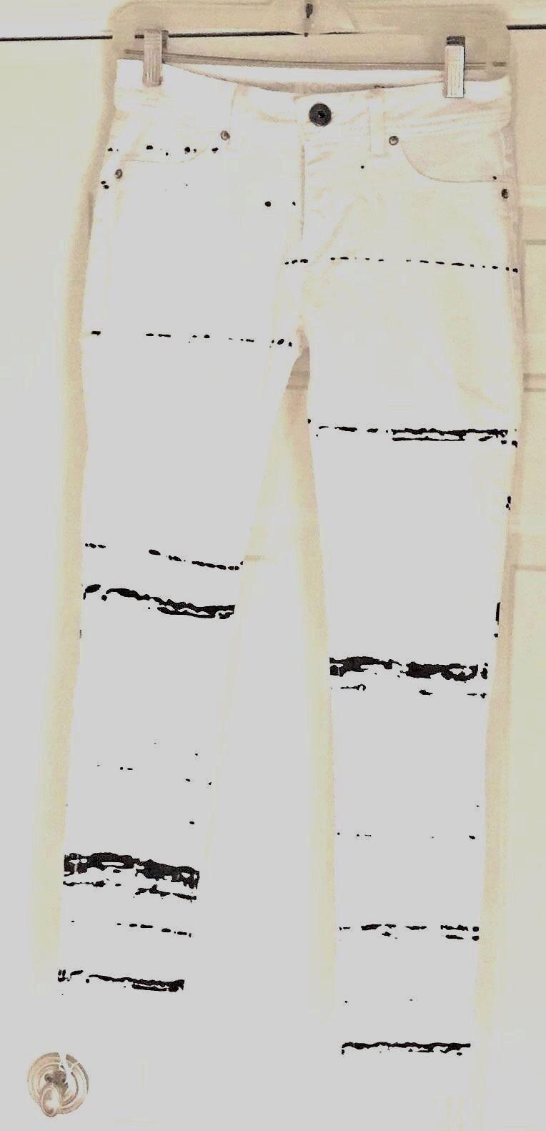 DL1961 EMMA LOW-RISE SPLATTER LEGGINGS - MSRP  208