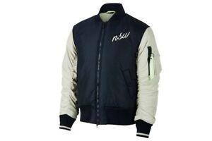 Nike-Herren-Synthetic-Fill-Bomber-Jacke-Blau-Grau-928917-452-Waermend-Neu-Gr-M