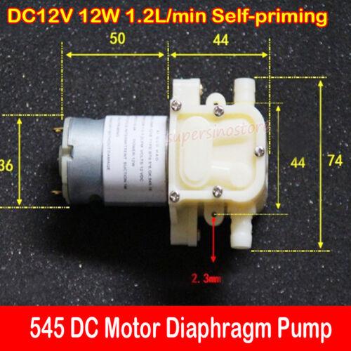 545 Motor Diaphragm Pump DC12V 12W 1.2L//min Self-priming Water Pump DIY Tea Tray