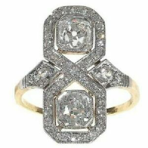925-Silver-2-10-CT-Round-Diamond-14K-White-Gold-FN-Art-Deco-Wedding-Antique-Ring