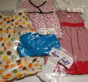 """New -  Lot of 4 - 18"""" Play Doll Outfits / Clothing #JS1 - fits American Girl"""