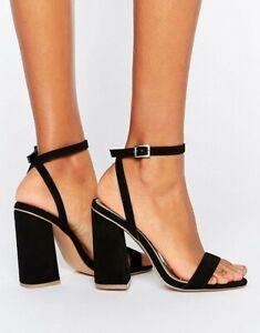 ASOS Black Heeled Sandals   eBay