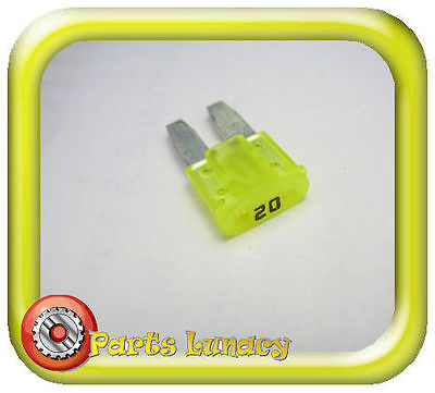 FUSE Micro2 Style 9mm 20 Amp Yellow FOR  Late Model Tesla Model S