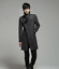 thumbnail 14 - Wool Blend Stand Collar Coat Slim Fit Jacket Men's Mid Length Parkas Asymmetric