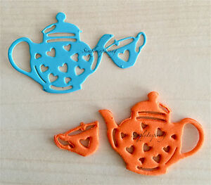 Adorable-Heart-Teapot-Cup-Die-New-For-Cuttlebug-amp-Sizzix