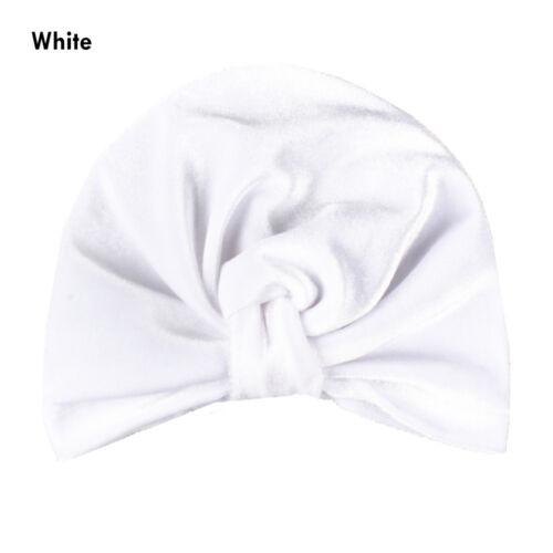 beanie mütze junge mädchen baby verknotete hut samt weich indischen turban