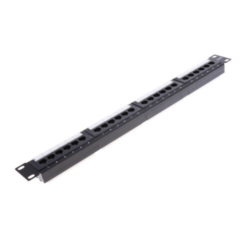 Cat 6 24 Port 19/'/' 1U Rackmount Patch Panel Standard T568A and T568B Line