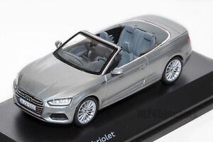 AUDI-A5-Cabriolet-Plata-oficial-concesionario-de-Audi-Modelo-Escala-1-43-regalo-de-coche