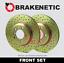 FRONT SET BRAKENETIC SPORT Cross DRILLED Brake Disc Rotors BNS47027.CD