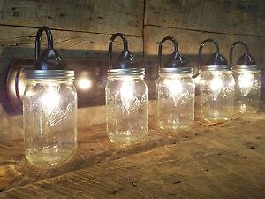 5 Jar Mason Light Dark Oil