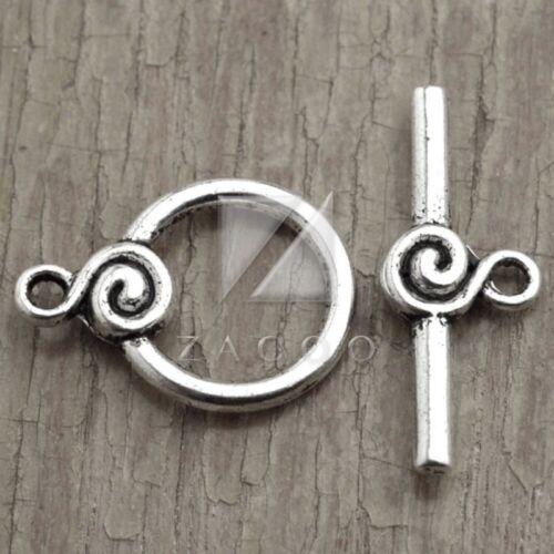 50pcs New Bar Ring Toggle Clasp Tibetan Silver Connector 22x16x4//27x10x4mm