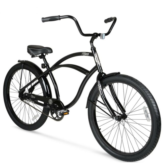 "6e5f0477f80 Beach Cruiser Bike 26"" Men Elegant Black Sturdy Comfort Balloon Tire Bicycle  New"