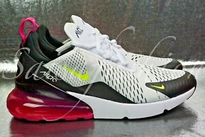 Nike Air Max 270 White Volt Black Laser Fuchsia Pink Neon Yellow