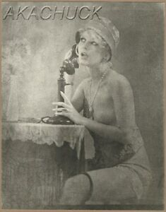 1920s Topless Speakeasy Flapper R HENDRICKSON PHOTO Original Artists Studio M155