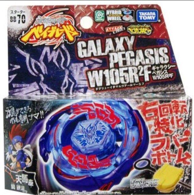 Takara Tomy Beyblade Bb 70 Galaxy Pegasis W105r2f Starter Pegasus Ebay