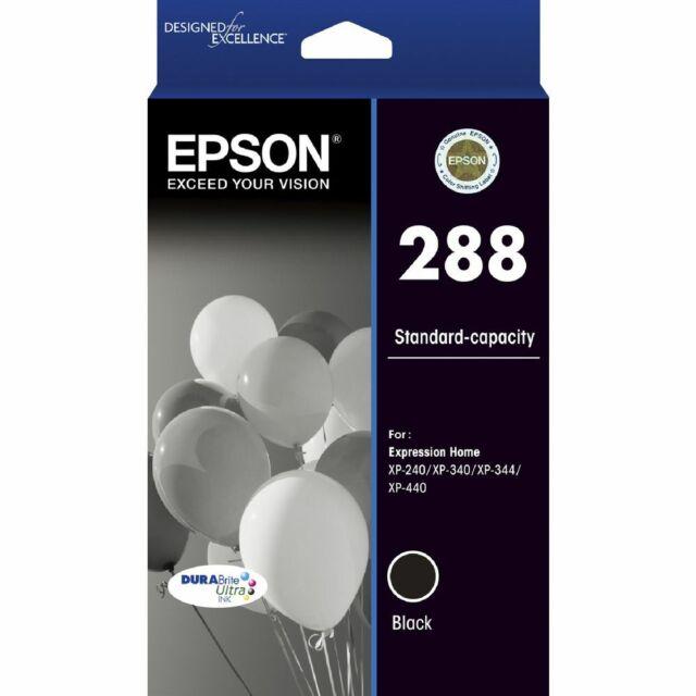 "EPSON 288 BLACK INK CARTRIDGE ""C13T305192"" GENUINE EPSON INK"
