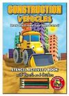 Activity Stencil Books - Construction Vehicles: Colouring & Activity by North Parade Publishing (Novelty book, 2014)