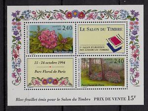 * Timbres / Bloc (neuf**mnh Tbe) 1993 Salon Du Timbre /fleurs N°2849 && 2850 Renforcement Des Nerfs Et Des Os