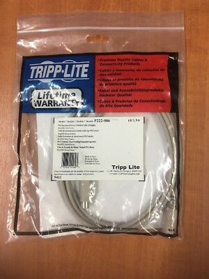 Mini-DIN6 M//F PS//2 Keyboard//Mouse Extension Cable Tripp-Lite P222-006 6-ft