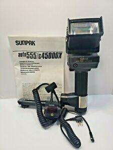 Sunpak Auto 555 Thyristor Camera Flash for All Manual Film Camera