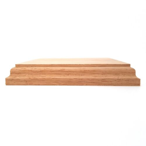 5 x 5 x ¾ inch Solid OAK square base 125 x 125 x 20 mm
