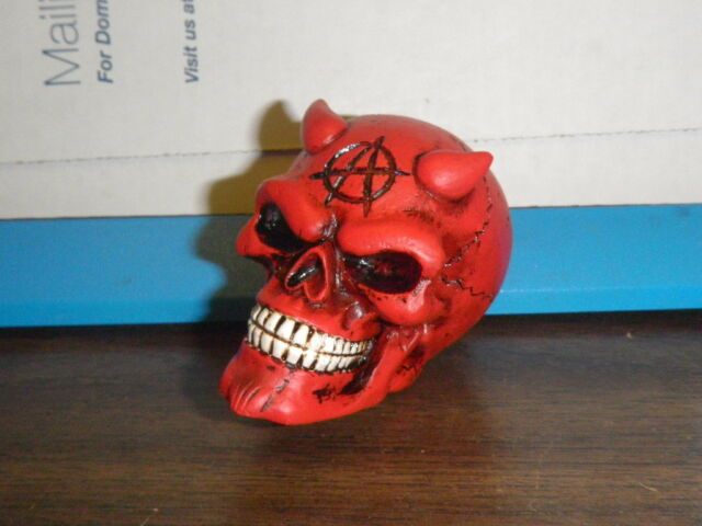 NEW Red Anarchy Zombie Devil Skull Universale Shift Knob Shifter Handle Human NR