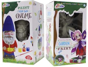 Malen Sie Ihr Eigenes Gartenzwerg & Fee 20cm Figur Kinder Kunst & Handwerk Set