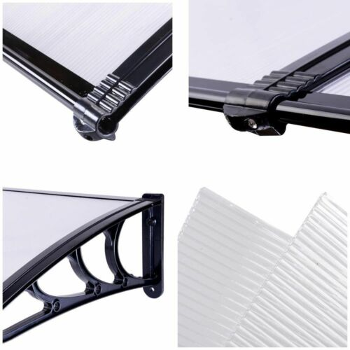 """MCombo 40/""""x80/"""" Window Awning Polycarbonate Front Door Awning Patio Cover Canopy"""