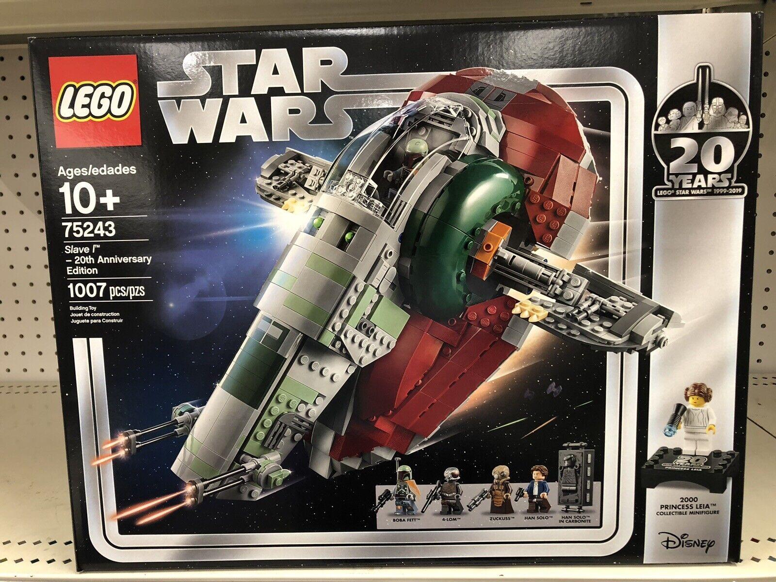 I HAND 2019 LEGO stjärna VAROR SLAVE I 20TH ANIVERSINFORDNING 75243 FAKTORN
