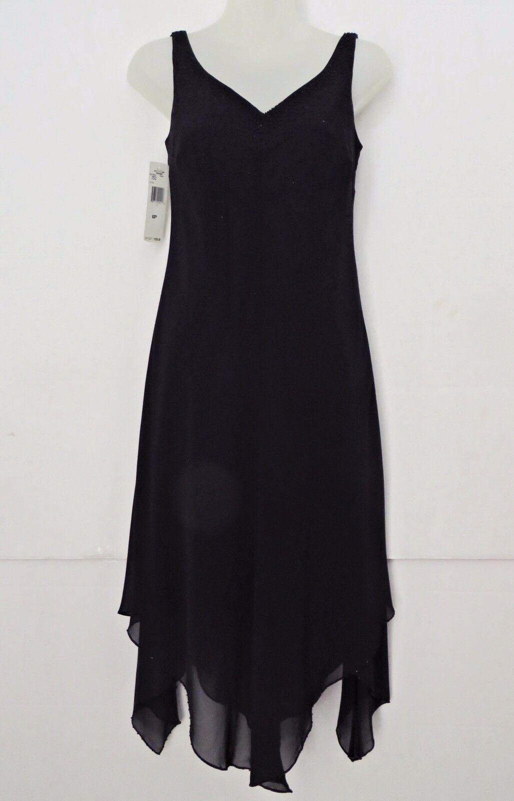 NWT  EVAN PICONE schwarz Flapper Beaded Long Maxi Dress Dressy Party Sz 6P