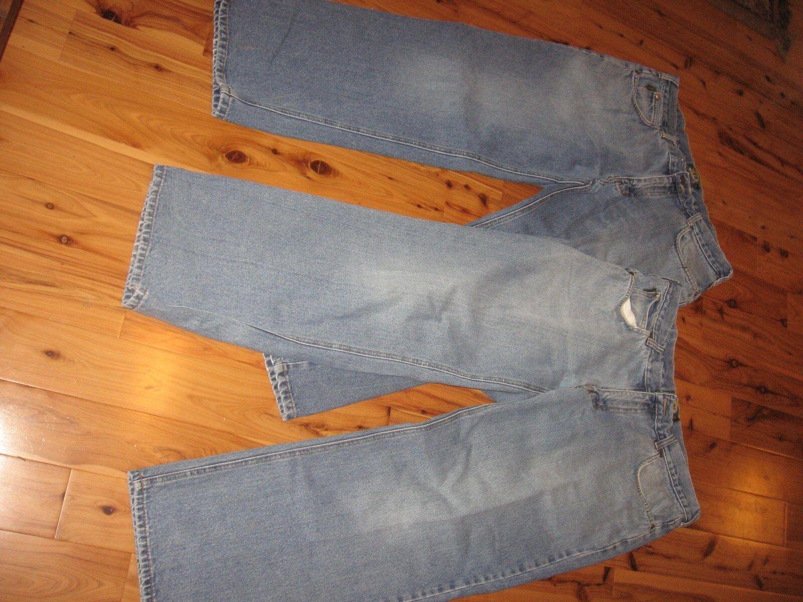 LOT 2 MENS 36 X 30 (29.5) CABELA'S COTTON BOOT CUT blueE JEANS