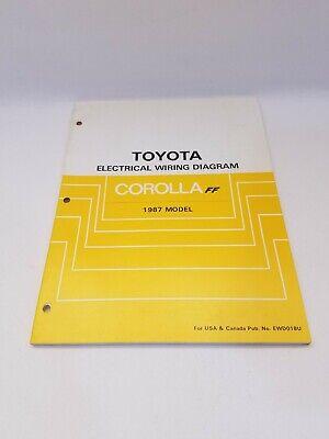 1987 Toyota Corolla FF AE82 factory electrical wiring ...