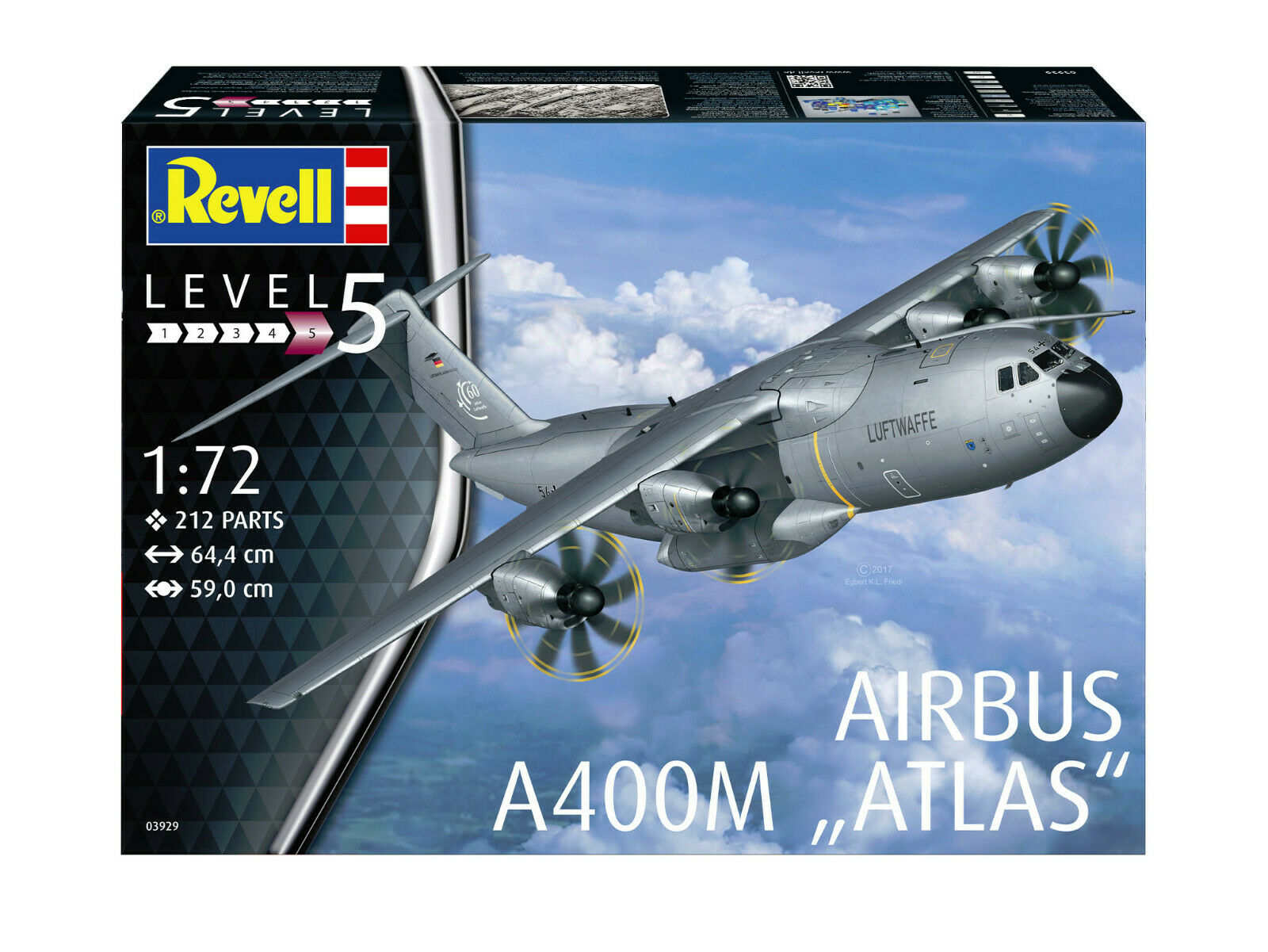 Revell 03929 Airbus A400m   Atlas   Kit 1 72 New