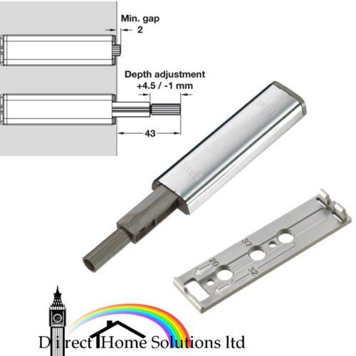 acier et plastique Titus Poussoir Attraper Pour Standard Dissimulé Charnières et tiroirs