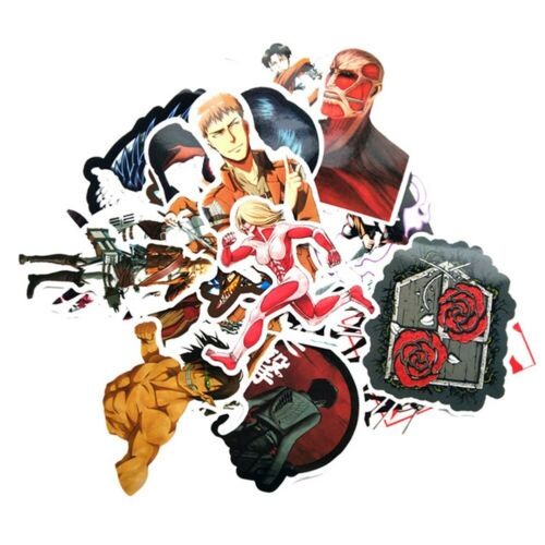 42pcs Attack on Titan Stickers Japan Anime For Luggage Laptop Skateboard *d@hW