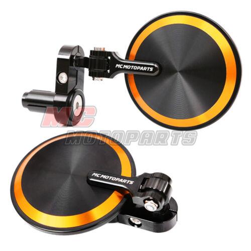 Reborn CNC Bar End Mirrors Round Folding Set For Suzuki Motorcycles