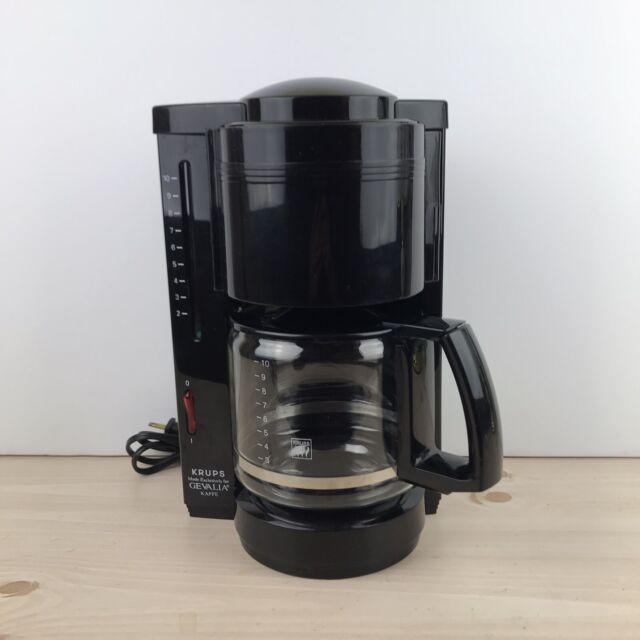 Vintage Krups Gevalia Kaffe Type 396 Automatic 10 Cup Coffee Maker in Black EUC