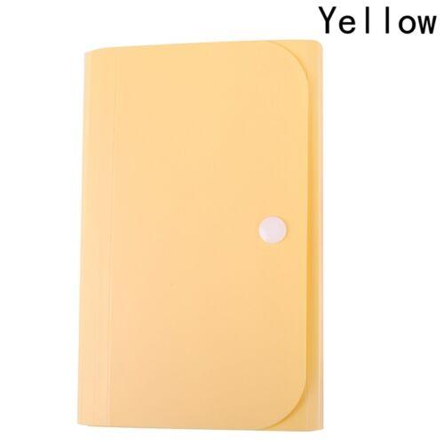 Pack of 4 Expanding File 13 Pocket A6 Folder Stud Wallet Case Organizer