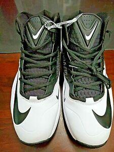 Nike-Zoom-Code-Elite-3-4-Shark-White-Blk-Football-Cleats-Size-16-603370-100-NEW