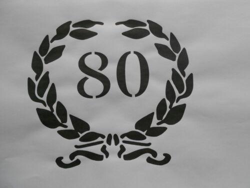 Schablone 80 auf A4
