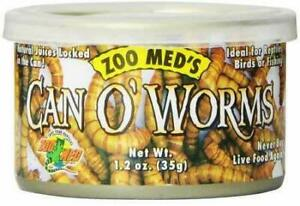 (3 Pack) Zoo Med Can O' Worms Healthy Nutritious Reptile Meal 1.2 oz Medium