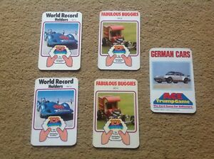Vintage-Top-Trump-title-cards-selection-job-lot-1970-039-s-80-039-s-Buggies-German-Cars