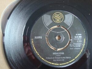 """Harpo : Movie Star DJM 1975 UK 7"""" ex+"""