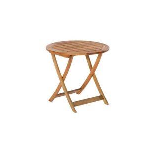 Gartentisch Klappbar Holz Tisch Rund Massivholz Tisch Balkontisch 80