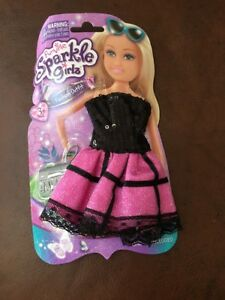 FUNVILLE-SPARKLE-GIRLZ-FASHION-OUTFIT-12-034-DOLL-CLOTHES-Party-Dress-amp-Clutch
