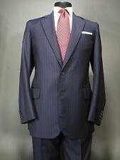 THORNS London off Savile Row Bespoke Navy Suit 40 L Wain Shiell Wool, Zegna Tie